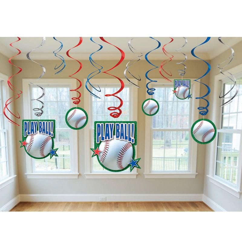 Baseball   Swirl Decorations (12 count) for the 2015 Costume season.