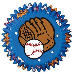 Baseball - Baking Cups (50 count)