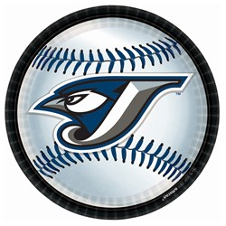 Toronto Blue Jays Baseball - Round Dinner Plates (18 count)