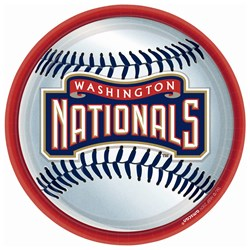 Washington Nationals Baseball - Round Dinner Plates (18 count)