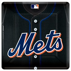 New York Mets Baseball - Square Banquet Dinner Plates (18 count)
