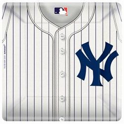 New York Yankees Baseball - Square Banquet Dinner Plates (18 count)