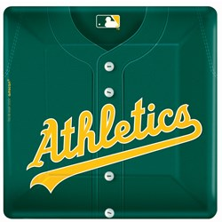 Oakland Athletics Baseball - Square Banquet Dinner Plates (18 count)
