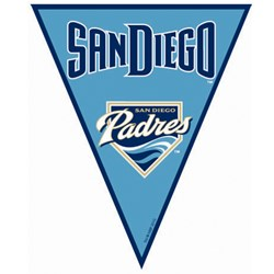 San Diego Padres Baseball - 12' Pennant Banner