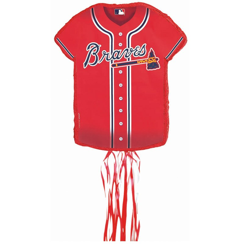Atlanta Braves Baseball   Shirt Shaped Pull String Pinata for the 2015 Costume season.