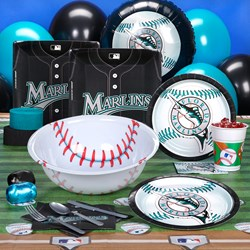 Florida Marlins Baseball Deluxe Party Kit