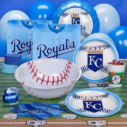 Kansas City Royals Baseball Deluxe Party Kit