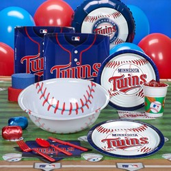 Minnesota Twins Baseball Deluxe Party Kit