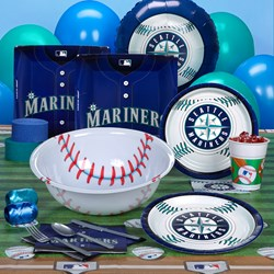 Seattle Mariners Baseball Deluxe Party Kit