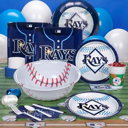 Tampa Bay Rays Baseball Deluxe Party Kit