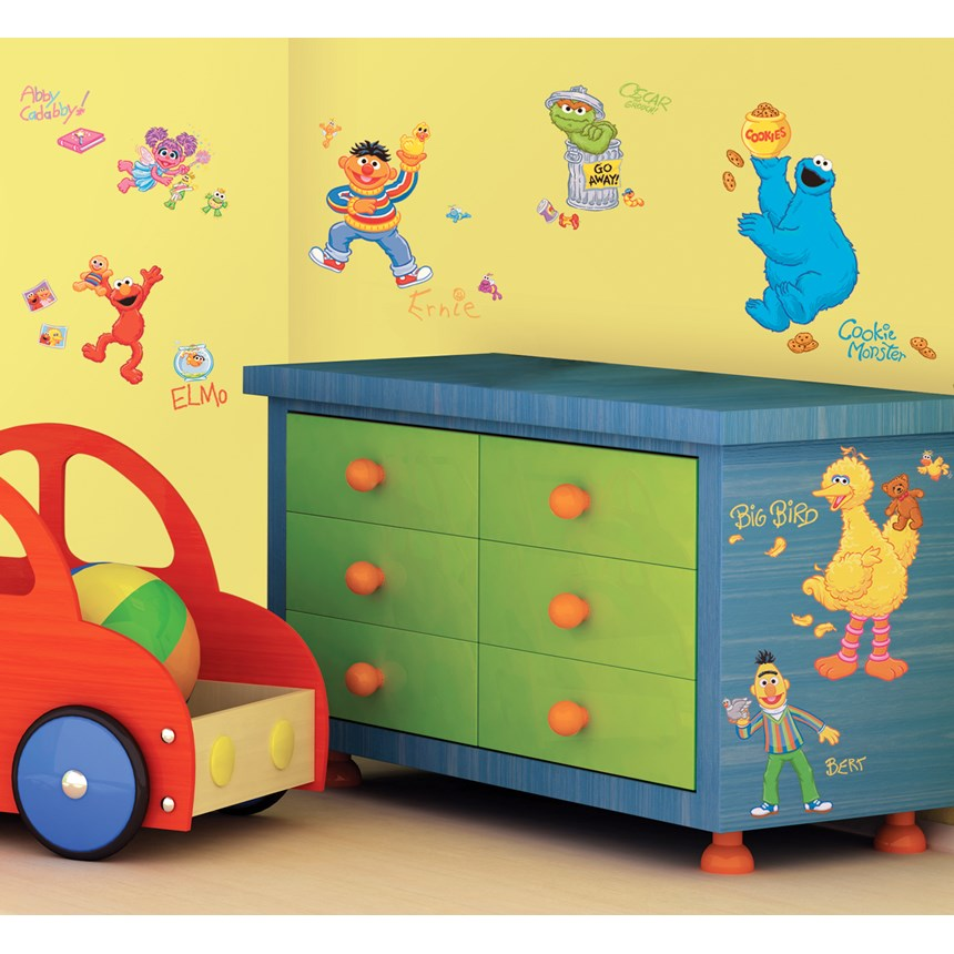 Sesame Street Peel and Stick Wall Decals   Costumes, 77977