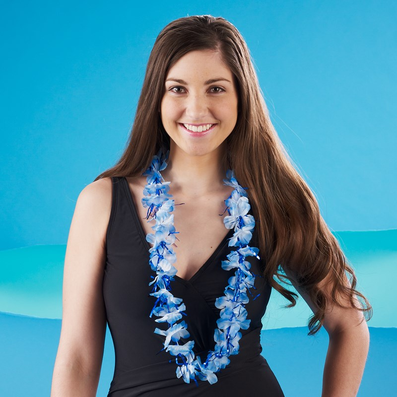 Tinsel Lei   Blue for the 2015 Costume season.