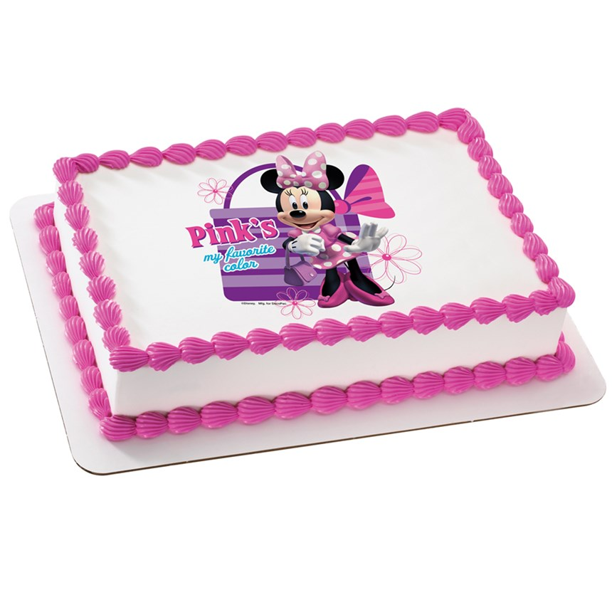 Halloween Costumes Minnie Mouse Edible Icing Cake Topper