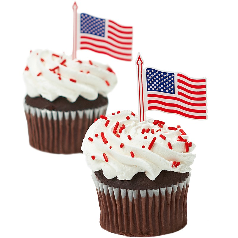 American Flag Cupcake Picks for the 2015 Costume season.