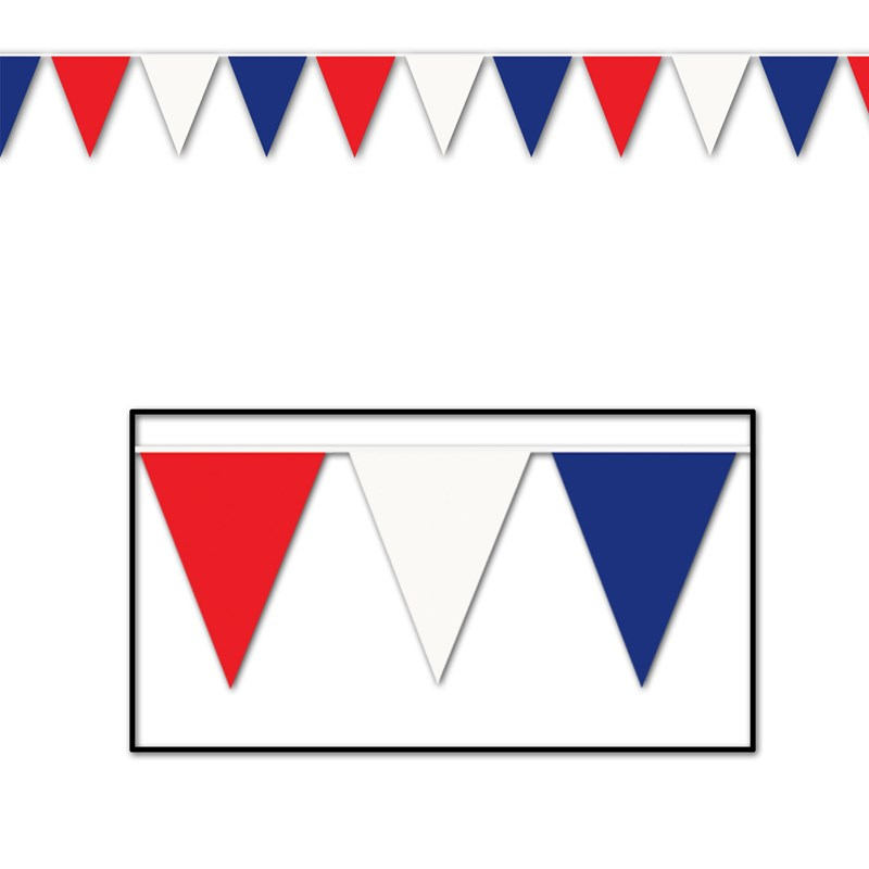 Red, White, and Blue 120 Pennant Banner for the 2015 Costume season.