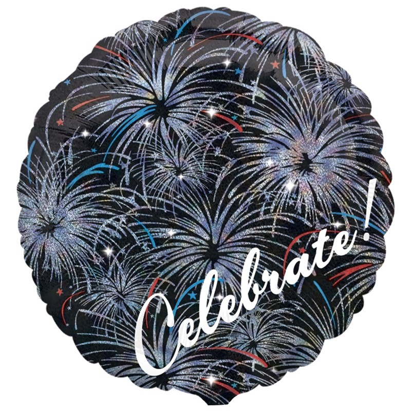 Celebrate   Fireworks Holographic Foil Balloon for the 2015 Costume season.