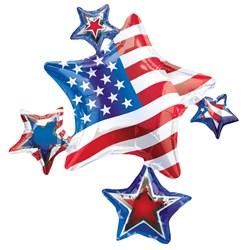 American Spirit Cluster Jumbo Foil Balloon
