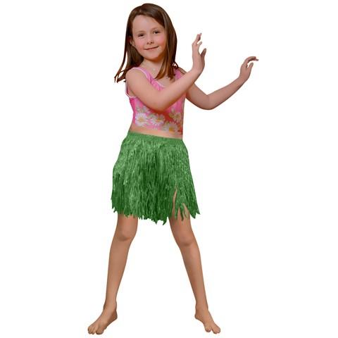 Child Green Mini Hula Skirt