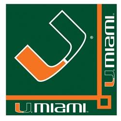 Miami Hurricanes - Beverage Napkins (20 count)