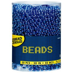 Bead Necklaces - Blue (50 count)