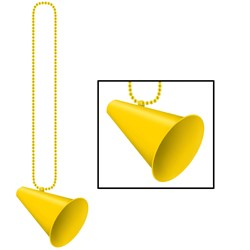 Beads with Megaphone Medallion - Yellow