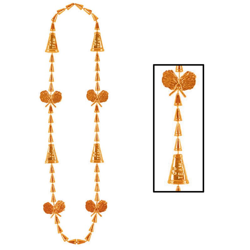 Cheerleading Beads   Orange for the 2015 Costume season.