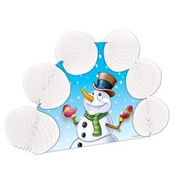 Snowman Pop-Over Centerpiece