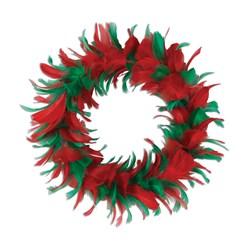 Christmas Feather Wreath - Small