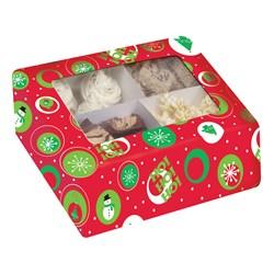 Christmas Print - Cupcake Box with Window
