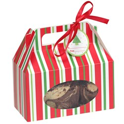 Red Green Stripes - Cookie Boxes (4 count)