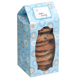 Snowflake Tall Cookie Boxes (6 count)