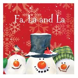 Christmas Snowman Carols - Beverage Napkins (18 count)