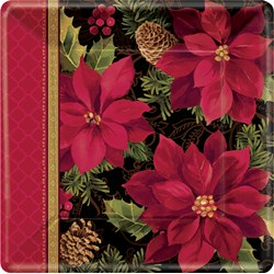 Christmas Holiday Enchantment - Square Banquet Dinner Plates (8 count)