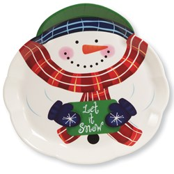 14 Snowman Serving Tray