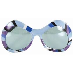80's Mod Sunglasses - Purple, Green Blue