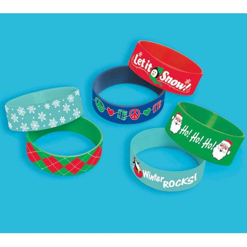 Christmas Cuff Bands (6 count) for the 2015 Costume season.