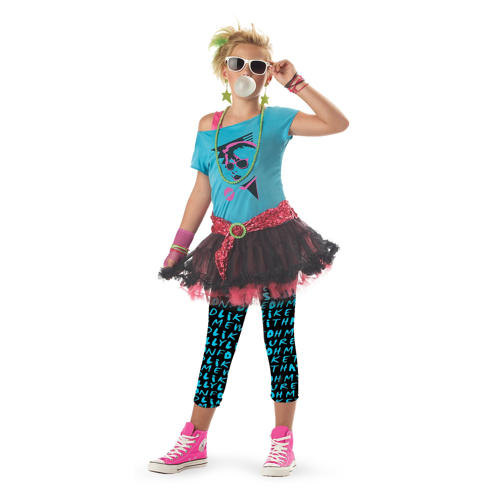 80 39 s valley girl child costume for 90er party outfit