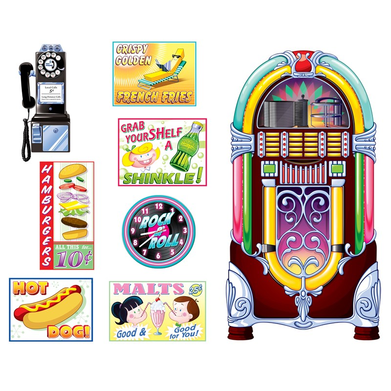 1950s Soda Shop Signs Jukebox Props for the 2015 Costume season.