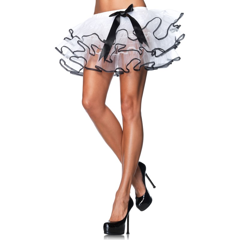 Petticoat White With Black Trim Bow (Adult) for the 2015 Costume season.