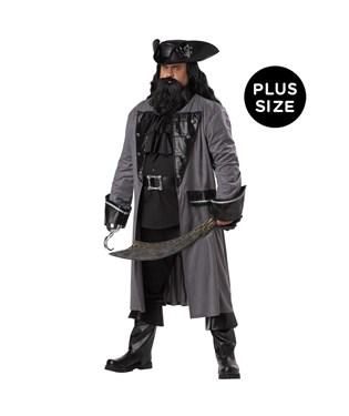 Blackbeard the Pirate Adult Plus Costume