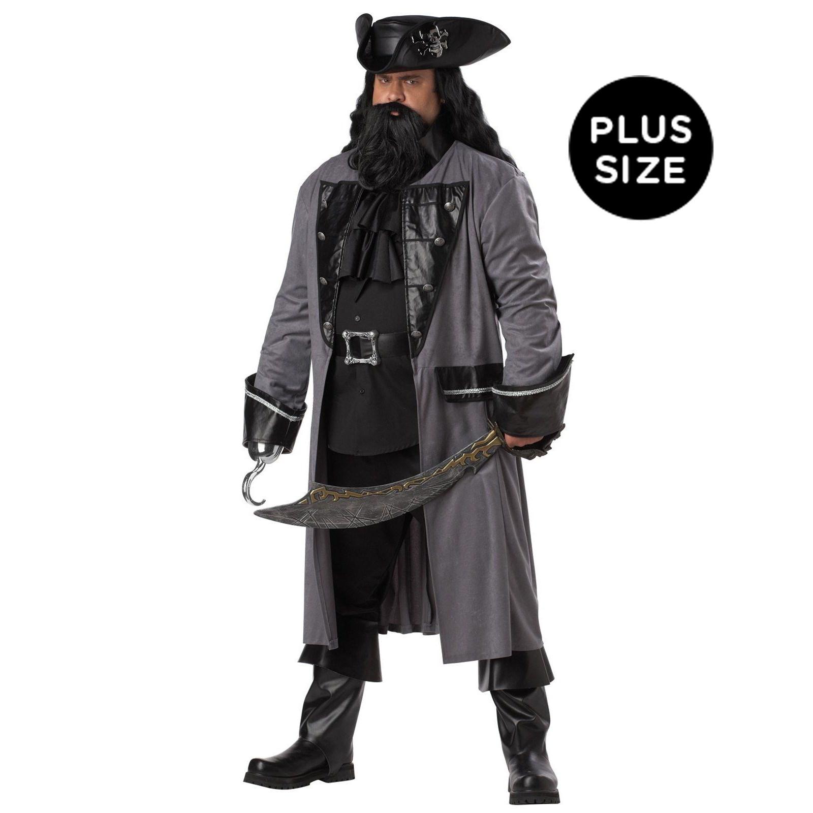 Image of Blackbeard the Pirate Adult Plus Costume