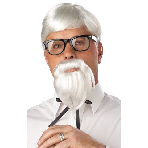 The Colonel Adult Wig and Beard