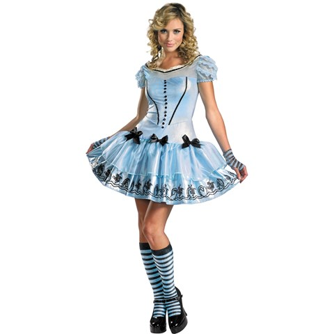 Alice In Wonderland Movie - Sassy Blue Dress Alice Adult Costume