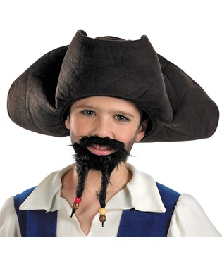 Pirates of the Caribbean 4 On Stranger Tides - Pirates Hat With Moustache And Goatee Child