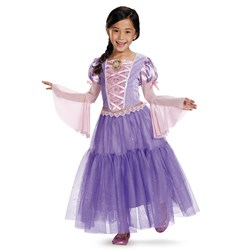 Tangled - Rapunzel Lameacute Deluxe Toddler / Child Costume