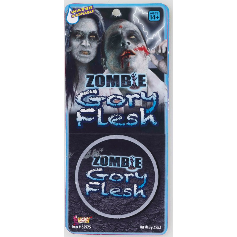 Zombie Gory Flesh Makeup for the 2015 Costume season.