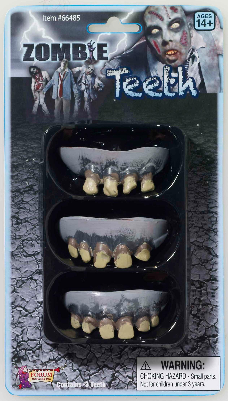 Image of 3 Pack Zombie Teeth Adult
