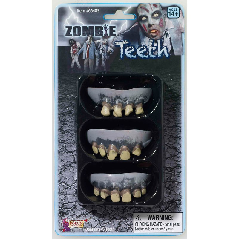 3 Pack Zombie Teeth Adult for the 2015 Costume season.