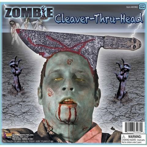 Zombie Cleaver Thru Head Adult