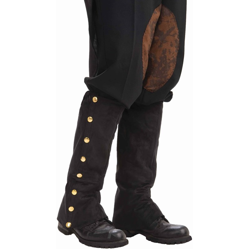 Steampunk Male Spats Black Adult for the 2015 Costume season.